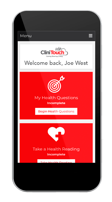 CliniTouch iPhone